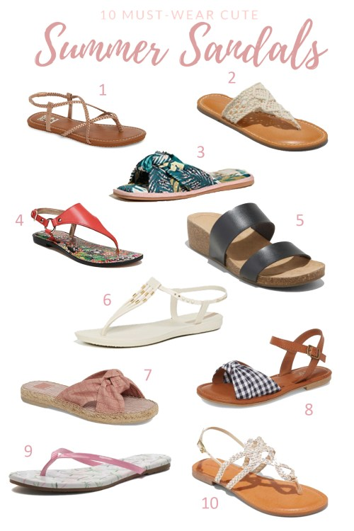 10 Cute Summer Sandals + Giveaway
