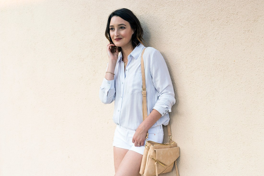 Summer Style: White Shorts & Stripes