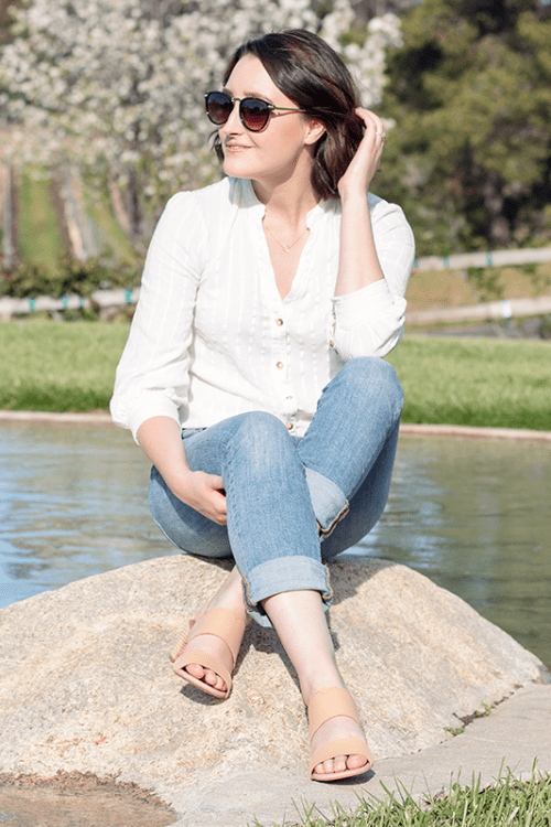 Casual Style: White Button Down & Jeans