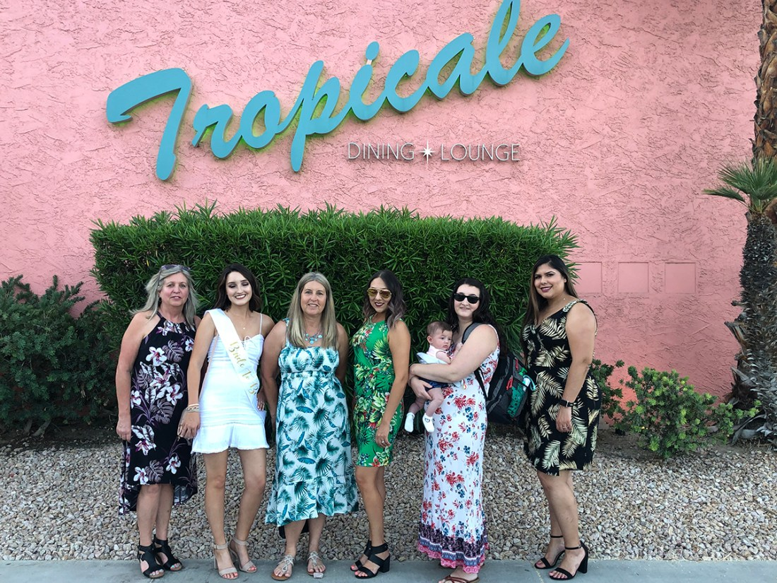 Palm Springs Bachelorette Party- The Tropicale Restaurant | A Good Hue