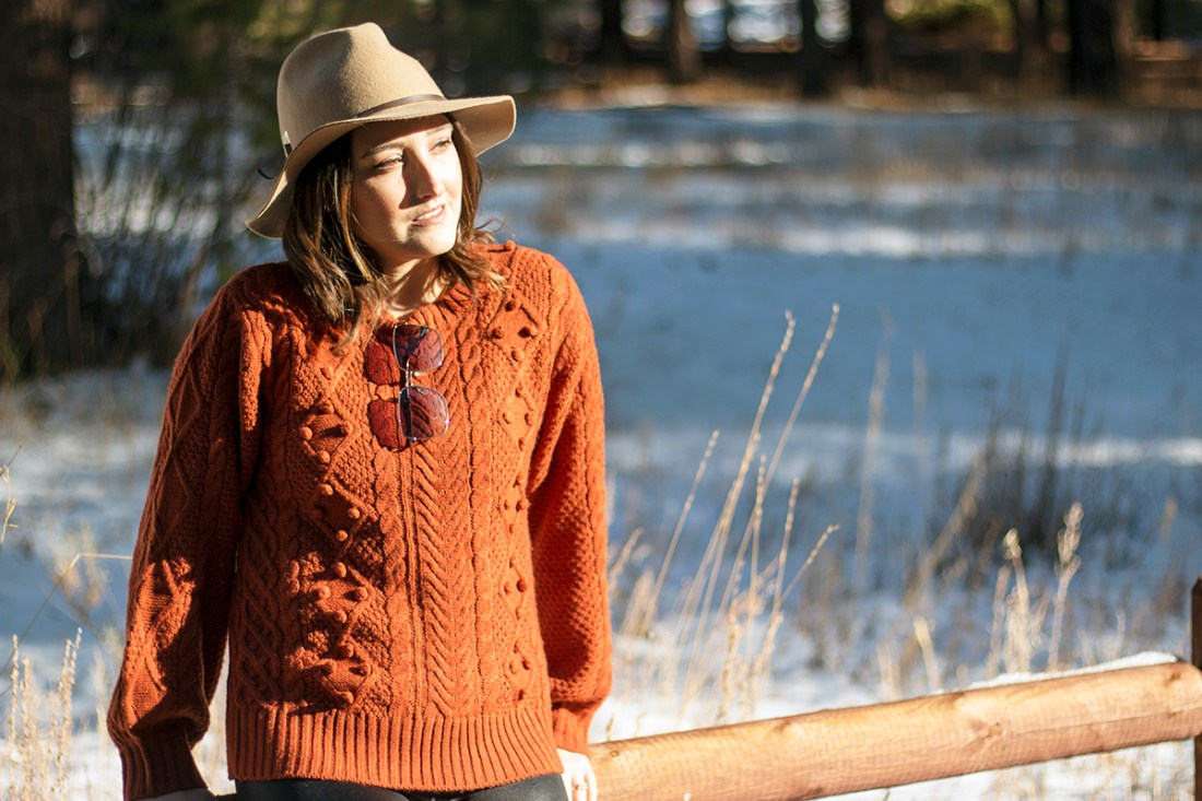 Fall Trend: Rust Pom Pom Sweater | A Good Hue