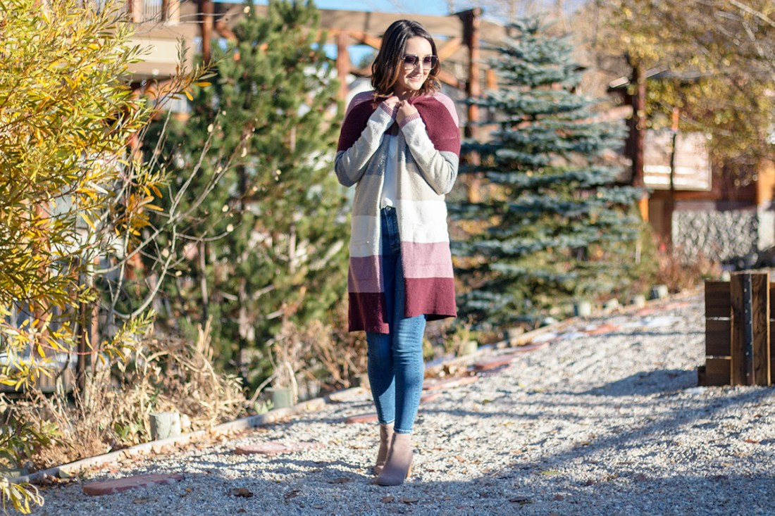 Style For Less: Kohl's Color Block Cardigan | A Good Hue
