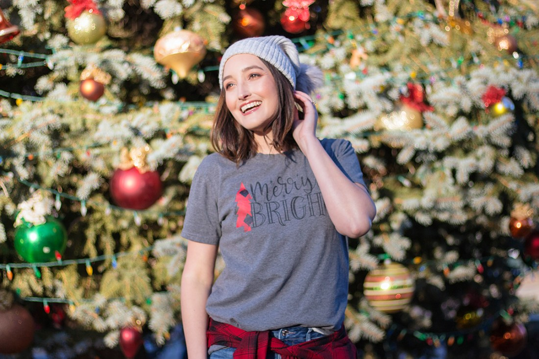 Cute Christmas Graphic T-Shirt   A Good Hue