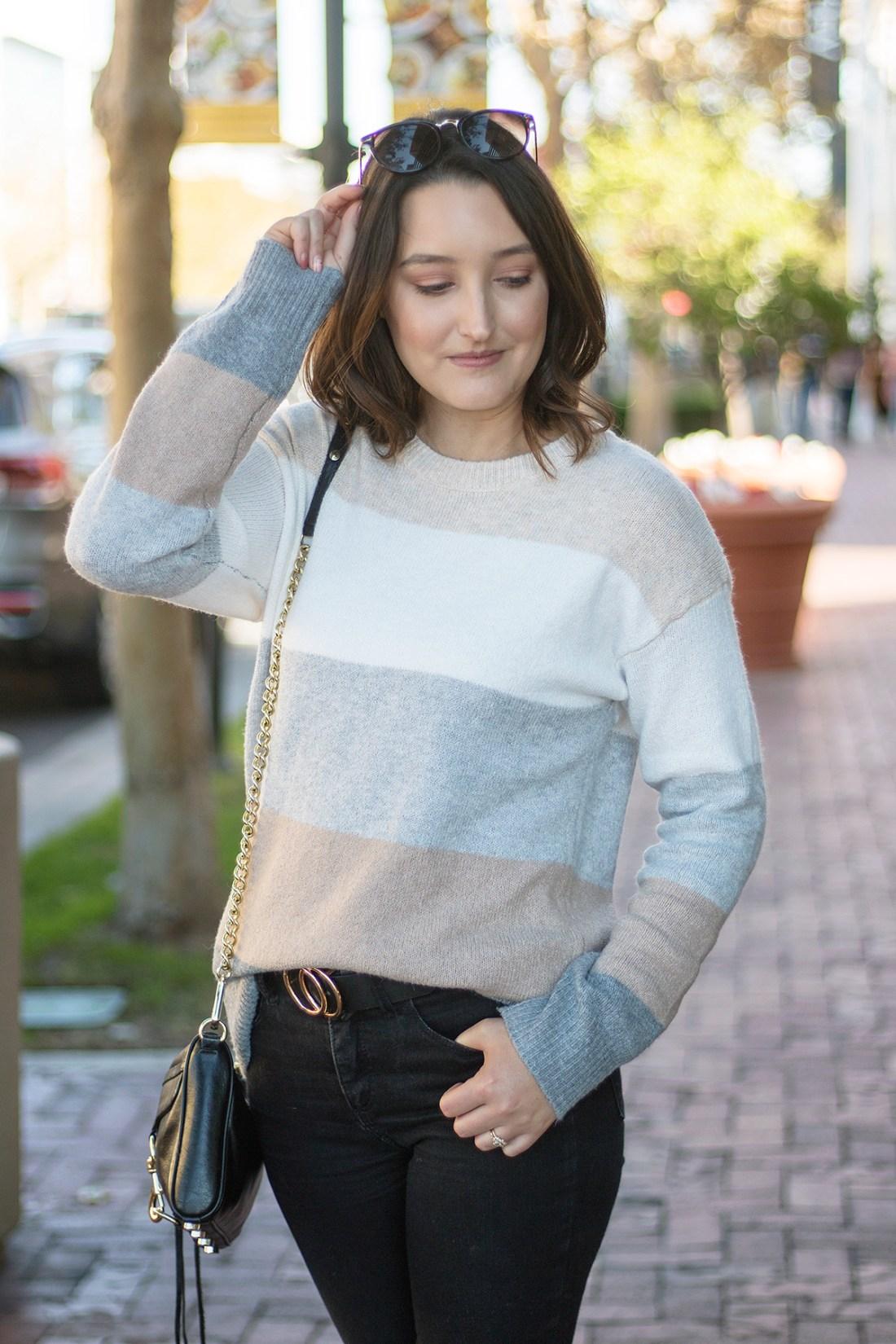 Walmart Time & Tru Color Block Sweater | A Good Hue