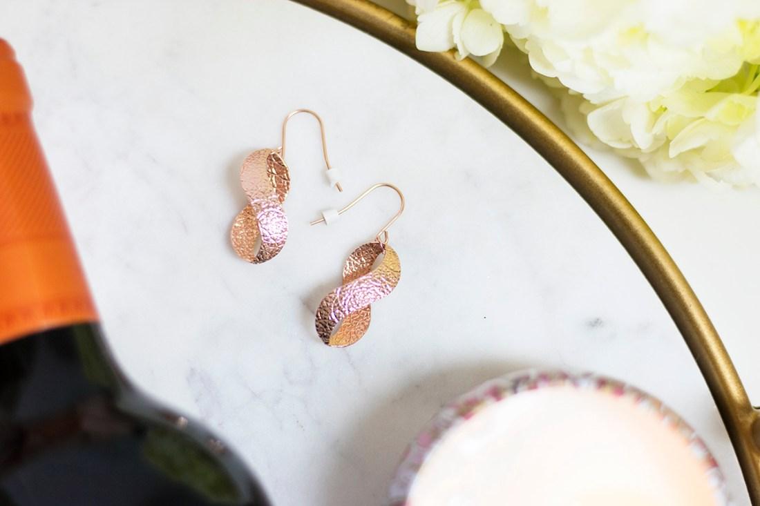 Ellen Tracy Sterling Silver Rose-Gold Earrings | A Good Hue