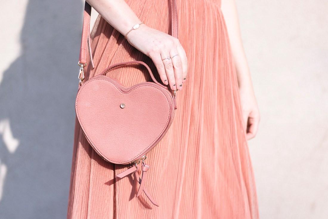 LC Lauren Conrad Heart Bag | A Good Hue