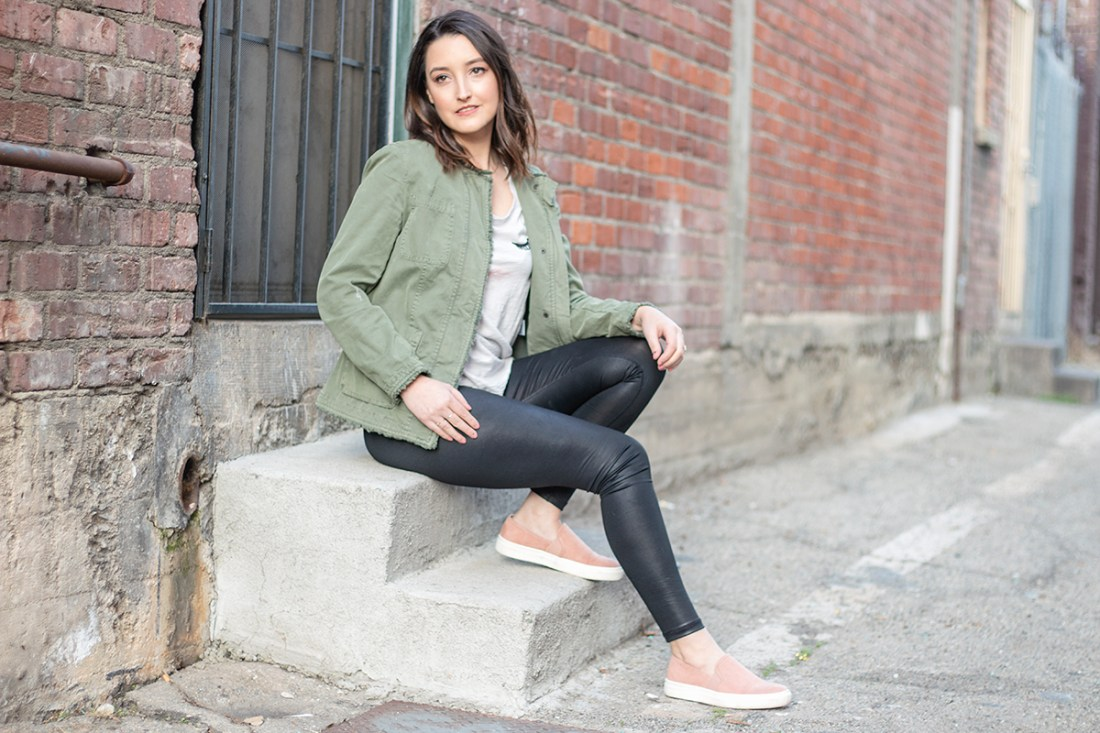 3 Ways to Wear Faux Leather Leggings | A Good Hue