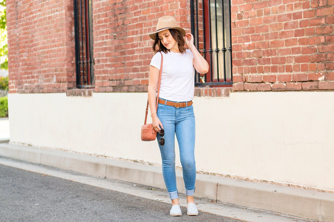 Everyday Jeans & Tee Shirt Outfit | A Good Hue
