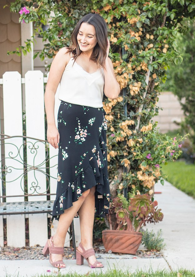 Summer Outfit: Floral Midi Skirt