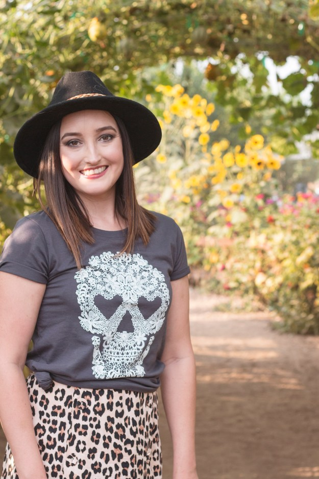 Target Lace Skull Graphic T-Shirt | A Good Hue