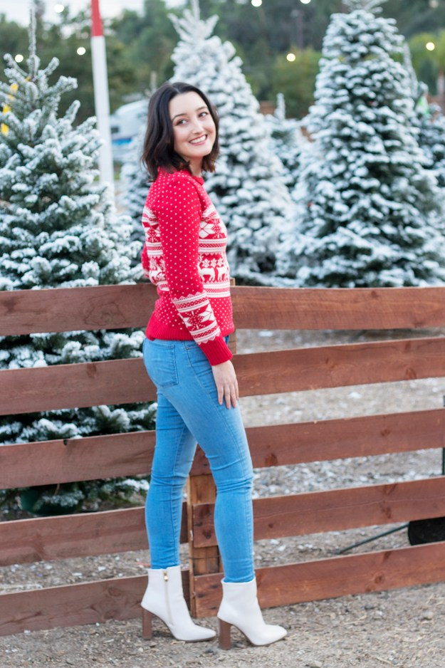 Not-So-Ugly Christmas Sweater Outfit | A Good Hue