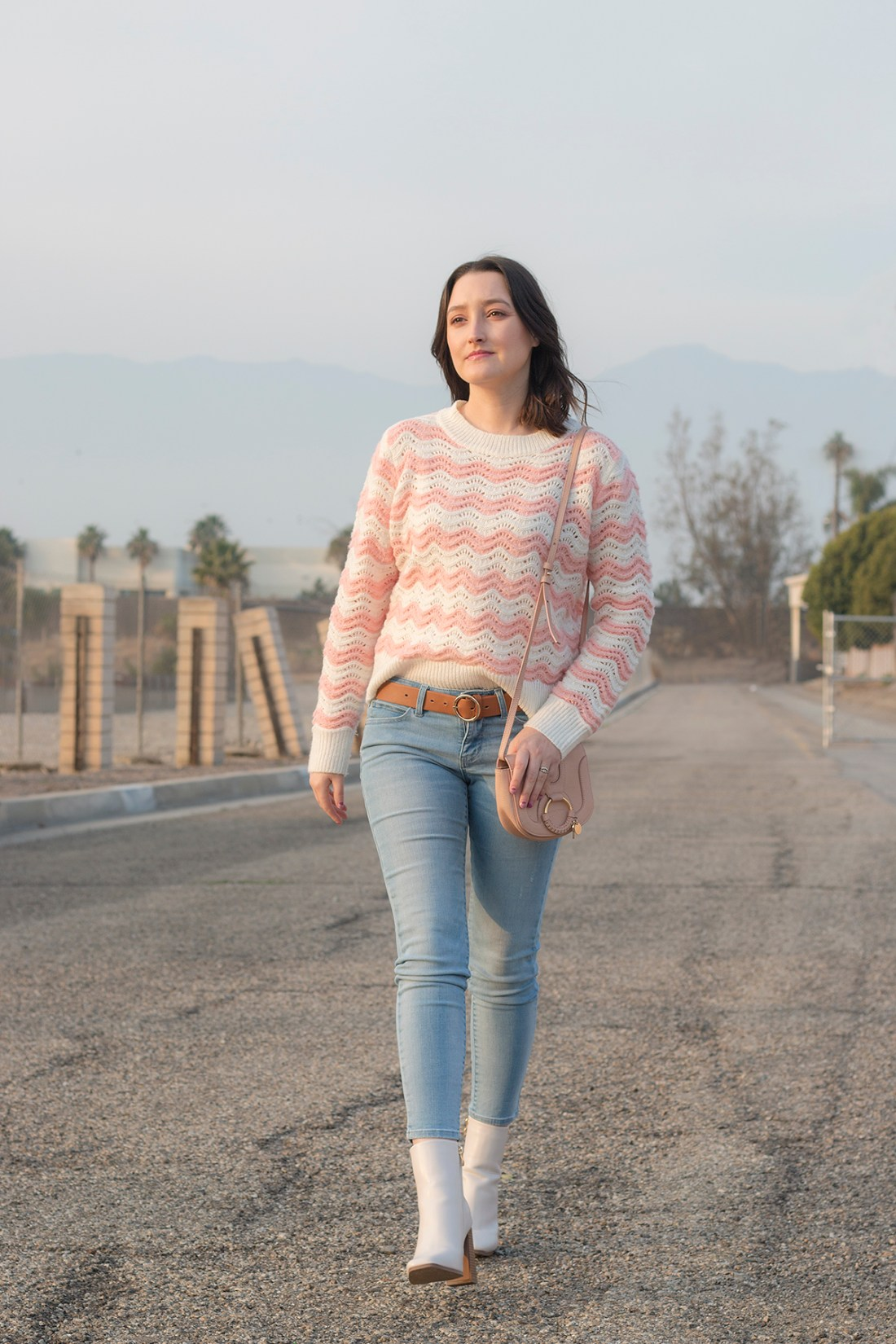 Sweater Weather: Pink Stripes | A Good Hue