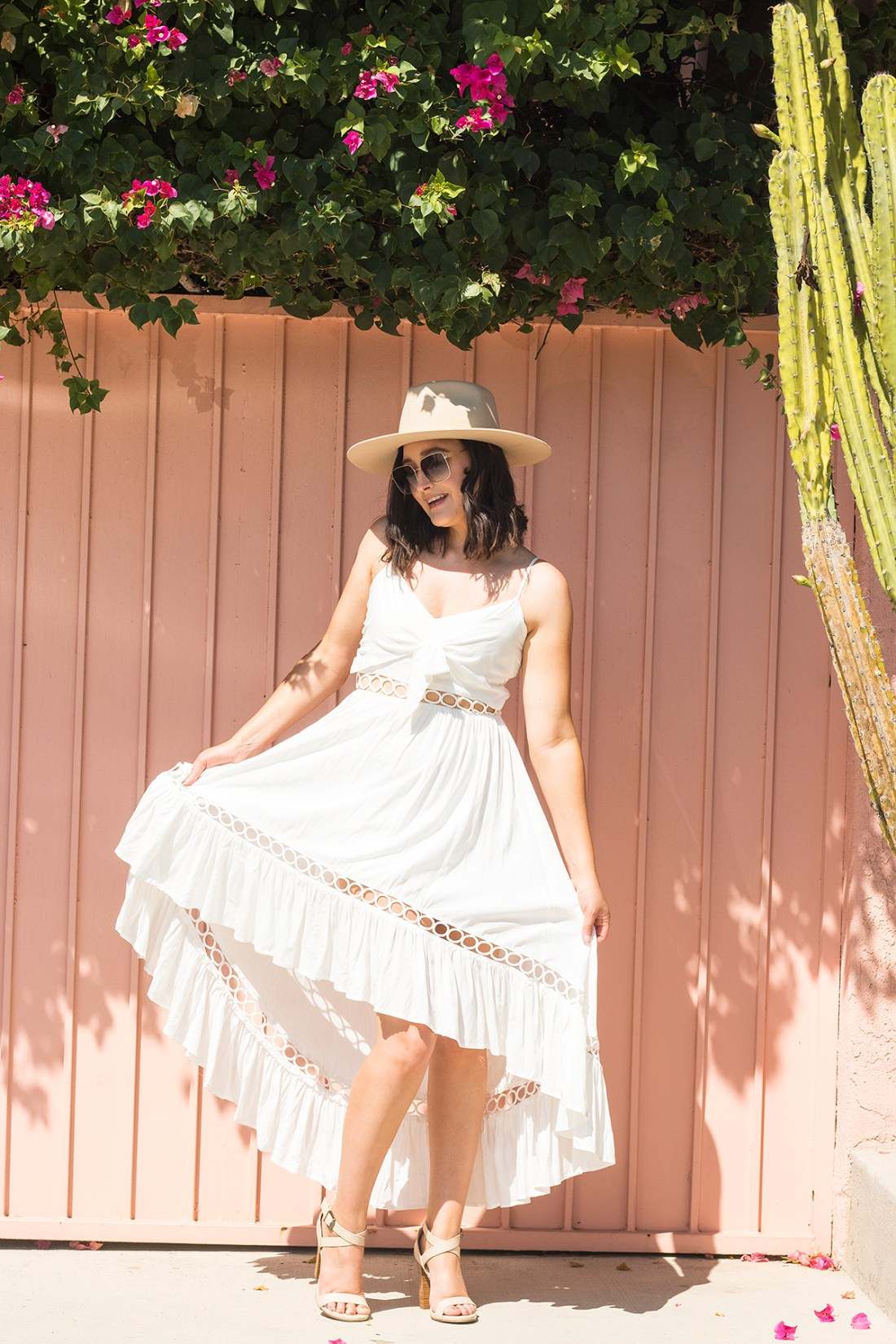 White Midi Dress AllOutChicBoutique.com | A Good Hue