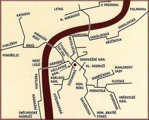Praag buispost kaart