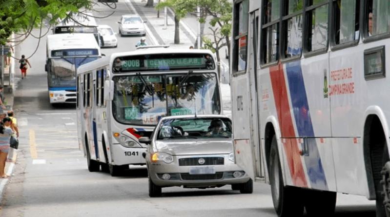 Transporte publico nas ruas de Campina Grande
