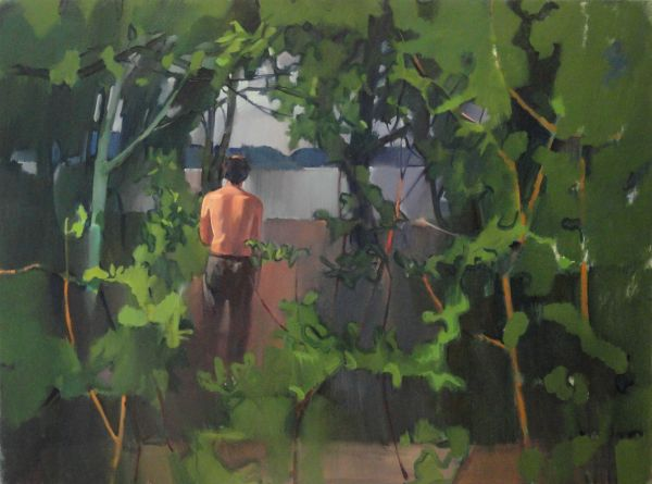 "Tom Campbell, ""Listening to Silence"" 2012, oil on canvas, 36 x 48in."
