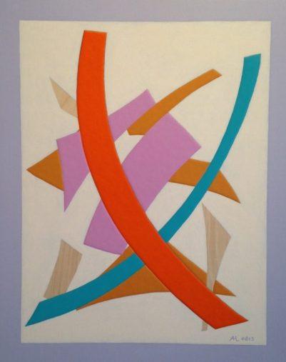 """Antonie Los, """"Broad Strokes"""" 2015, acrylic on panel, 20 x 16in."""