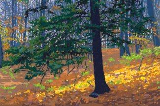 "ELIZABETH VAN DEN BROECK, ""Blue Pine"" 2017, soft pastel"