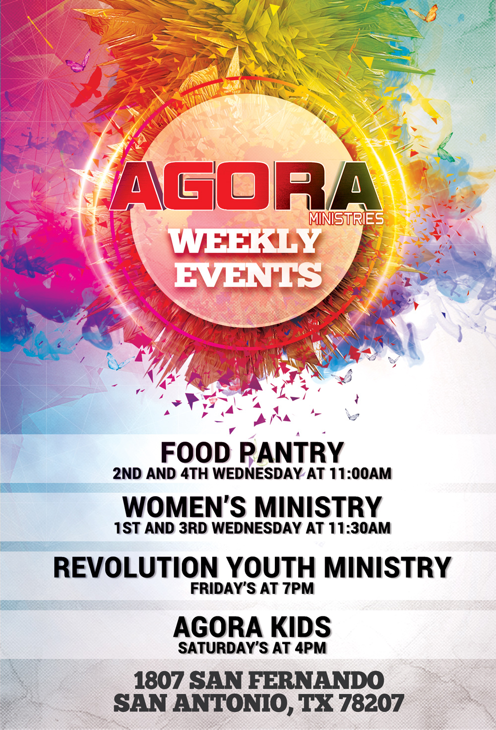 Weekly AGORA Events