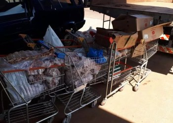 Operação apreendeu um total de 320 quilos de alimentos impróprios. Foto: Divulgação/MPRS
