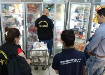 A operação da Força-Tarefa do Programa Segurança Alimentar autuou quatro supermercados em Uruguaiana. Foto: Divulgação/MPRS