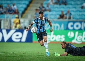 Lance da partida entre Grêmio e Esportivo. Foto: Lucas Uebel/Divulgação