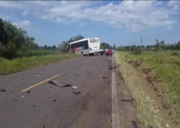 ERS-030 foi bloqueada por causa do acidente. Foto: CRBM / Divulgação