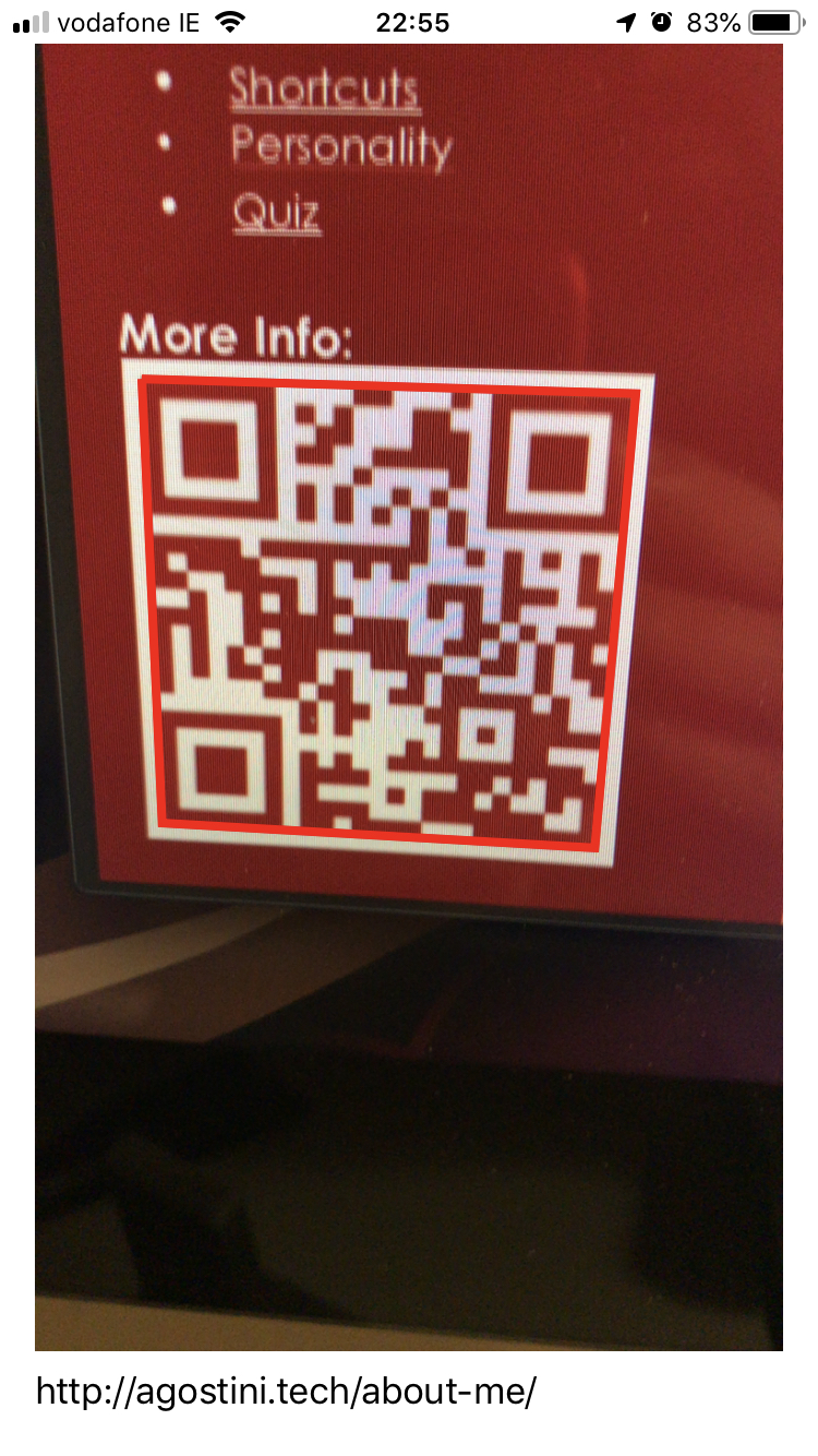 Reading Barcodes And QR Codes With AVFoundation