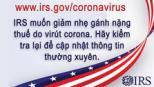 IRS is offering corona virus tax relief, Vietnamese