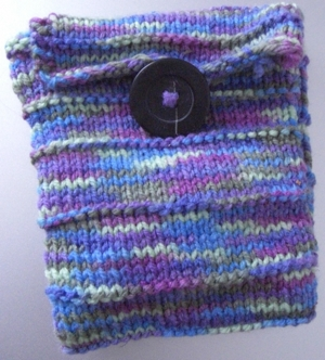 rainbow pocket knit
