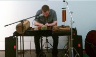 """Performing Cage's """"Child of Tree"""" at the Blanton Museum of Art in Austin, TX"""