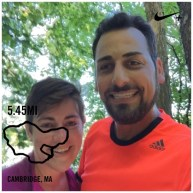 Running at Fresh Pond in Cambridge with Shaina