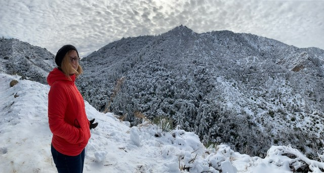 Snow in the Angeles National Forest