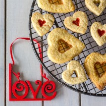 Stained Glass Heart Cookies form Above made with Love, Square