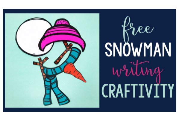 snowman freebie snowman craftivity January Freebie