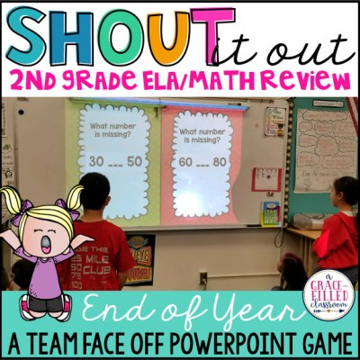 end of year game ela and math review 2nd grade