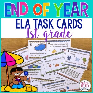 End of Year ELA Task Cards 1st grade