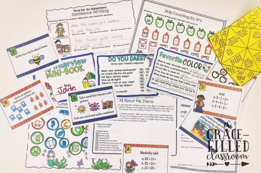 back to school freebie 2nd and 3rd grade teachers