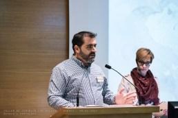 El Presidente de AGRAFI José Luís Pozo da la bienvenida a los presentes y presenta a la ponente Ángeles Mesa