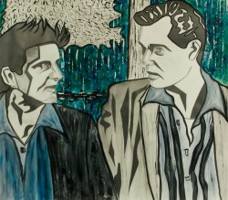 Henry & Tommy, Goodfellas, Graphite, ink, and acrylic on paper, 42in x 48in, AnneMarie Graham 2015