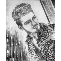 Gianluca Ginoble, Il Volo, Graphite, ink, and acrylic on paper, 20 in x 30 in, AnneMarie Graham 2014