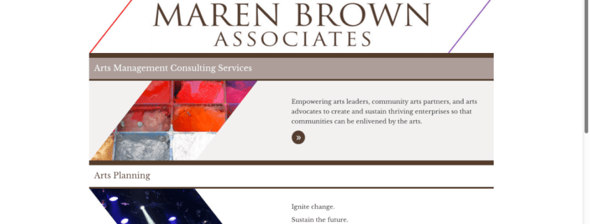 Website for Maren Brown Associates / design by Aga Grandowicz / agrand.ie
