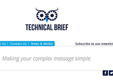 Website and identity for Technical Brief