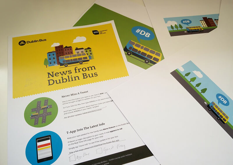 Dublin Bus, designing their digital visual presence. Art Direction & Design – Aga Grandowicz