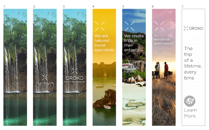 Storyboards and animations for OROKO Travel Agency by Aga Grandowicz / agrand.ie.