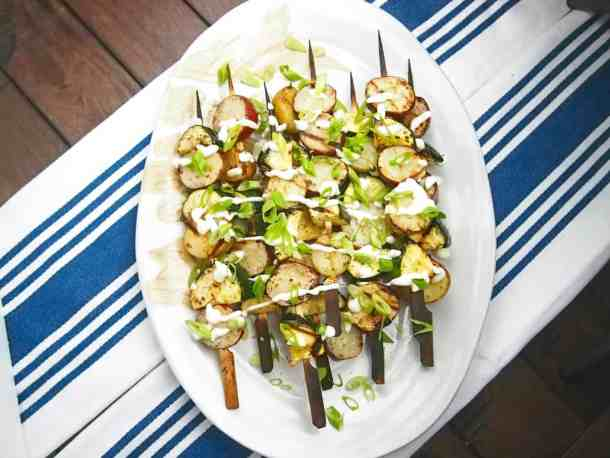 grilled potato salad with zucchini