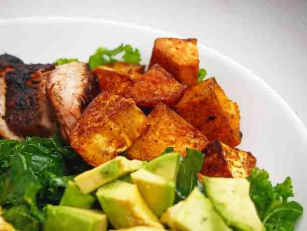 Roasted sweet potato