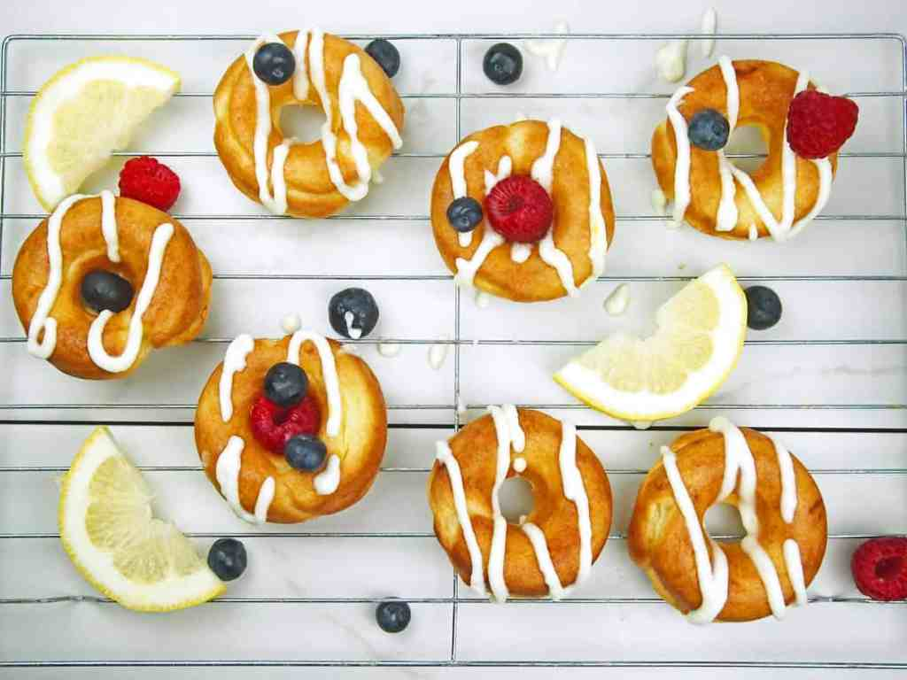 Lemon Mascarpone Doughnuts with Berries