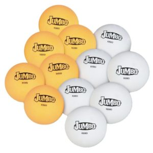 S&S Worldwide PB148 Jumbo Table Tennis Balls (Pack of 12)