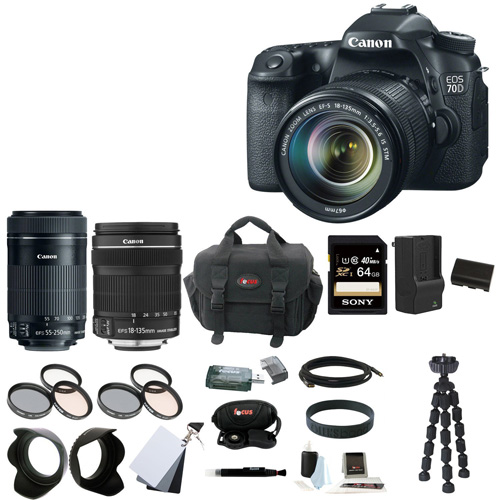 10. Canon EOS 70D EFS 18-135mm IS STM Kit